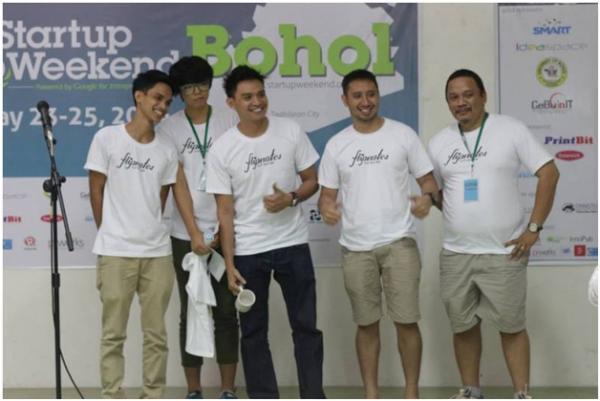 Flipnotes app win first ever Bohol Startup Weekend