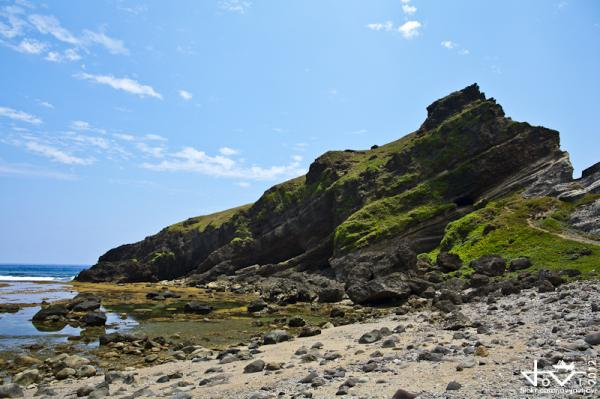 Batan Island's Alapad Hill and Rock Formation