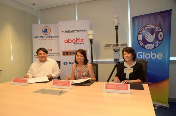 Globe partners with WeatherPhilippines Foundation to create wonderful disaster resilient communities