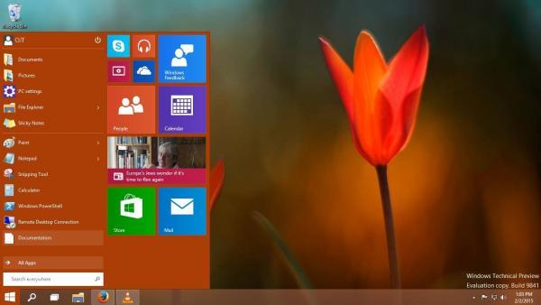 Ticking Microsoft Windows 10