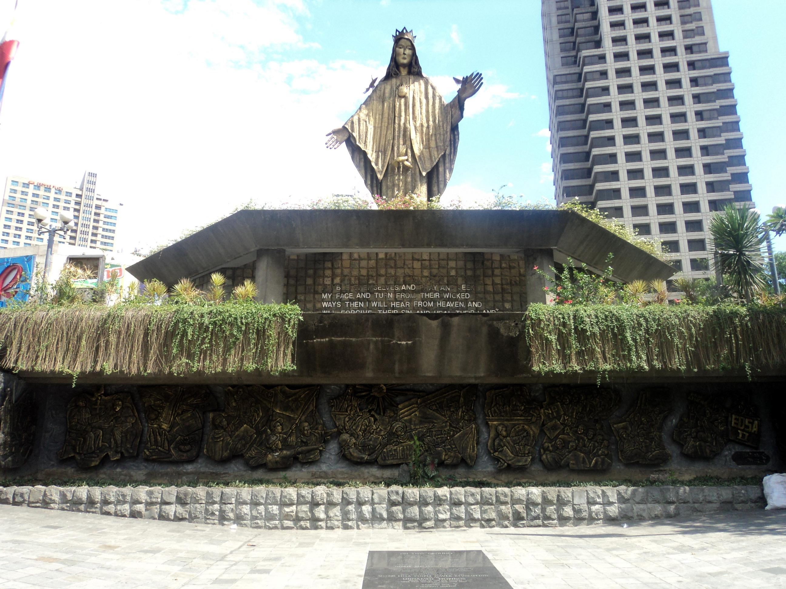 A Floor Plan Our Lady Of Edsa Shrine Patroness Of The Bloodless Revolution